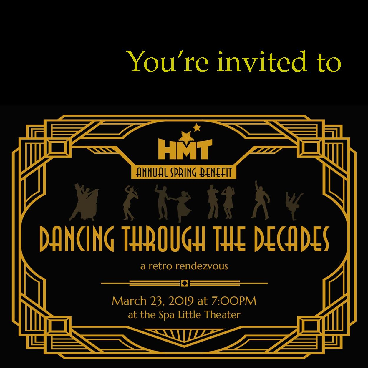 HMT's Spring Benefit Dancing Through the Decades